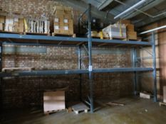 Two bays of heavy duty slot together pallet racking 3m (H) x 2.9m (W) x 1.25m (D)