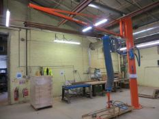 Palamatic jib mounted panel vacuum lifter SWL 90kg tc-2006 (3 Phase). * A work Method Statement and
