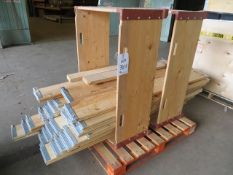 Two pallets of various packing crates as lotted