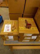 Nineteen Emir beech 240mm cutting gauges and thirty dark wood 240mm mortice gauges
