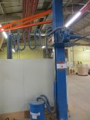 Palamatic jib mounted panel vacuum lifter SWL 100kg (3 Phase). * A work Method Statement and Risk