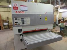 "SCM Sandya 16S 54"" wide belt sander (2008) s/n 102415 (3 Phase) c/w purpose built sanding disc"