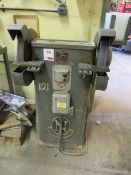 """Norton Industries 12"""" double ended bench grinder Serial No. 42/985 (3 Phase)"""