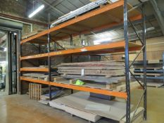 Two bays of heavy duty slot together pallet racking approx. 3.1m (W) x 1.2m (D) x 3.5m (H) *does not