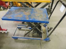 """Unbranded hydraulic scissor lift table 30"""" x 18"""" with current LOLER till 7/1/22"""