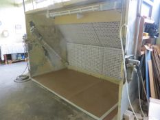 Contents of spray room to include Aerostyle galvanised steel dry back spray booth (3 Phase) (approx.