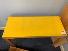 Small laminated topped table 90cm W x 20cm D x 57cm H