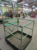 Fork Lift personal lift cage 950mm x 950mm s/n WPA01* current LOLER till 7/1/22