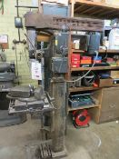 Unbranded pillar drill on pedestal with table & Vice (3 Phase)