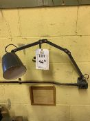 240v wall mounted angle poise lamp