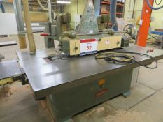 Wadkin circular saw with height guide and table feed 415v Serial No. PU1415 (3 Phase)