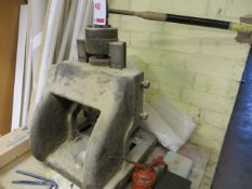 Unbranded vertical manual operated press c/w bench