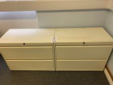 Two steel 2 draw cabinets with one key