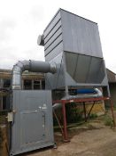 Furcell dust extraction system c/w control panel pumps valves collection unit & steel ducting