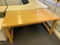 Wooden rectangular table 150cm x 75cm x 75cm