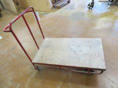 Steel framed mobile box trolley