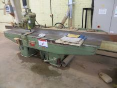Schubert 90° planer thicknesser with 2.5m bed with power feed (3 Phase)