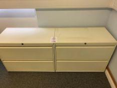 Two steel 2 draw cabinets NO keys