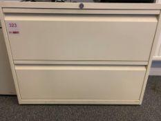A steel 2 drawer unit NO key