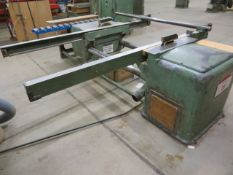 """Wigo Schubert double circular saw with adjustable bed (approx. 72"""") s/n 4470 (3 Phase)"""