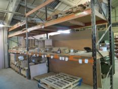 Four Bays of Heavy Duty Racking 6 uprights 4 x 3.75m 2 x 3m width 90cm. NB Collection on last day of