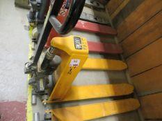 Geprutte Sicherheit high lift 1000Kg hand pallet truck s/n 606968 *current LOLER till 7/7/22