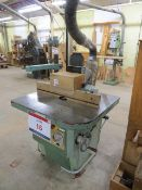 Gulliet table single side spindle moulder type OPA s/n 21.49460561 (3 Phase) c/w spare cutters &