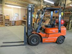 Heli HFG25 2.5 Ton 3.3 meter Gas Operated Counterbalance Fork Lift Truck s/n E3794 (2010) SWL 2427 @