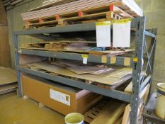 Two bays of heavy duty slot together pallet racking (3 shelves) approx. 3.1m (W) x 1.2m (D) x 1.
