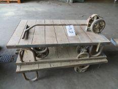 Three Platform Trollies c/w one lifting handle