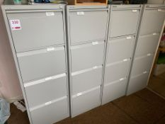 4x four Bisley four drawer file cabinets