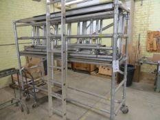 5m aluminium scaffold tower 5m x 2.4m x .70m