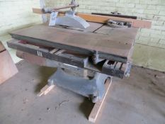 White RIP & X Rolling Tilting Cut Saw (3 Phase)