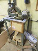 FJ Edwards manual operated angle iron cropper & vice press (3 Phase)