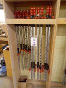 Twelve Wurth Superspanner 1200mm sash clamps
