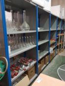 27 Bays of warehouse racking, 24 bays blue and 3 Bays Black Each Bay 1000mm x 490mm deep x 2140mm