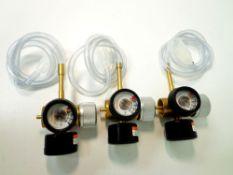 U S Gauge Model 23 15psi, max inlet 400psig, and Contents 400 psi gauge gas regulators with rodent