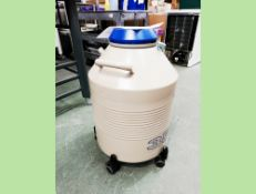 Taylor Wharton HC35 dewar is used for storing samples in liquid nitrogen as well as storing and