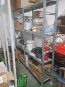 Metal Racking system which slots together 34 uprights 1980mm x 600. 127 x 1200mm Shelf supports.