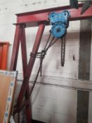Large Gantry lifting Beam with trolley 3200mm x 850mm x 2230mm High unbolts for transport. NB: