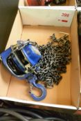 Lifting Gear 500 kg chain block (Recommended collection period for this lot Wednesday 15th -
