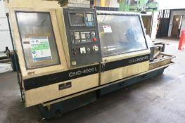 Colchester CNC-4000L gap bed SS&SC centre lathe, serial no. L4180SFBSA/1250, GE Fanuc OT control,