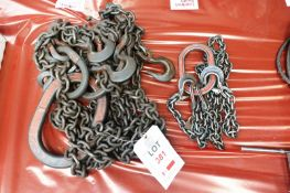 Two assorted multi leg lifting chains (Recommended collection period for this lot Wednesday 15th -