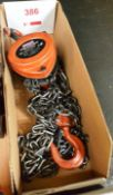 Sealey 500 kg chain block (Recommended collection period for this lot Wednesday 15th - Friday 17th