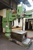 Kitchen Walker KWM50-1600 elevating radial arm drill, serial no. 3620 (1997), 28-2500 rpm spindle