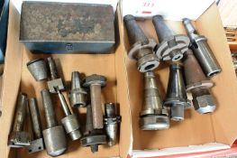 Two boxes and contents to incl. assorted BT60 HSS tool holders, etc. (Recommended collection