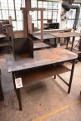 Two various steel frame fabrication/workbenches, max length approx 1400mm (Recommended collection