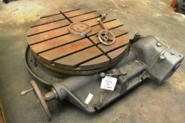 """36"""" hand operated horizontal slotted rotary table (Recommended collection period for this lot"""