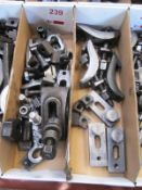 Two boxes of various clamping jaws (Recommended collection period for this lot Wednesday 15th -