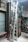 Aluminium 26 tread double extension ladder and 8 tread A frame step ladder (Recommended collection